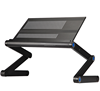 Factory Price Portable Laptop Tray Table / laptop desk with cooling fan / folding laptop stand