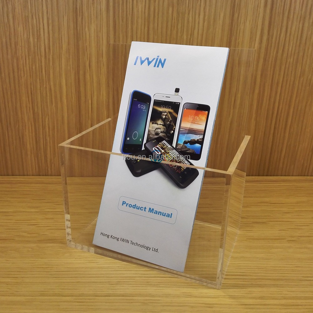 Shenzhen Factory wholesale acrylic brochure display boxes for small mobile phone store