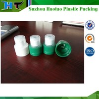 28mm Plastic Push Pull Sport Water Bottle Cap with Dust Cover, Double Safety Plastic Cap