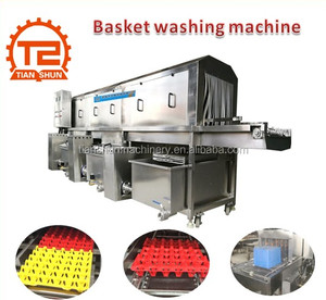 Industrial Automatic Turnover Crate / Basket / Pallet /Tray Washing Machine Manufacture