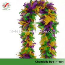 2015 Hot Sale Fashion Colorful Feather Boa chandelle boa For Party