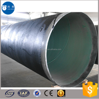 Construction materials HDPE coated api5l 6inch carbon steel pipe for coal gas pipeline system