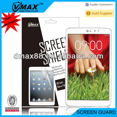 Tablet tft screen guard for LG Optimus G PAD 8.0 oem/odm (Anti-Glare)