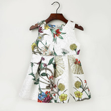 2017 New Flower Princess Dress for Baby Girls fashion design small girls dress