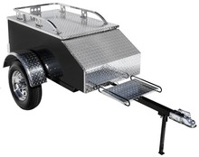 Alumium Rear Tow Travel Pull Behind Small Motorcycle Cargo Trailer for sales