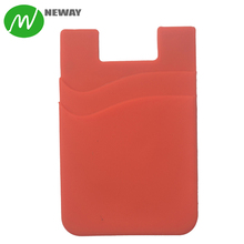 Dual 3M Adhesive Silicone Smart Phone Card Pocket