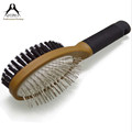 2 in 1 wooden handle dog comb and brush wholesale