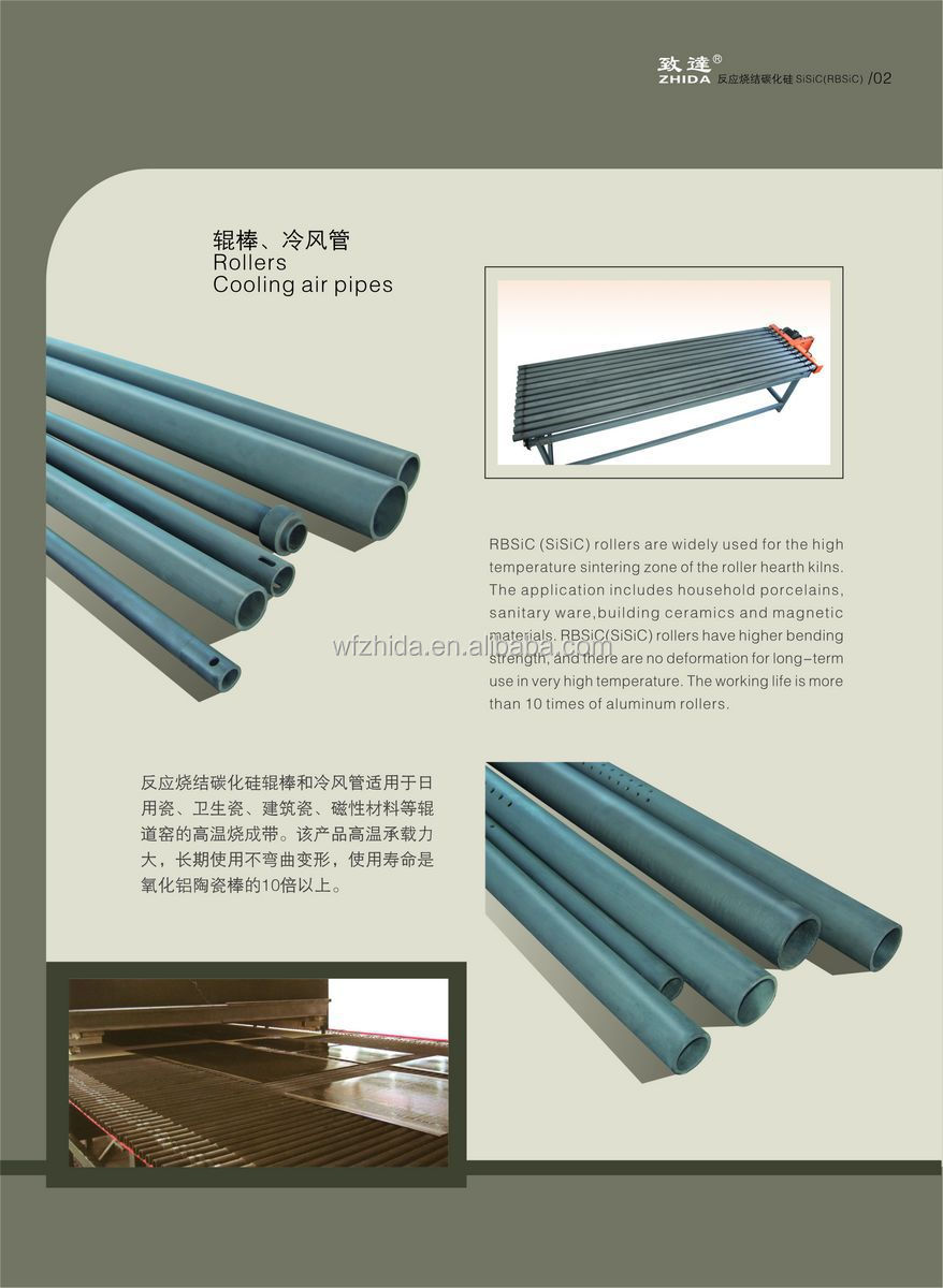 Silicon Carbide Ceramic Rollers Used in Kilns