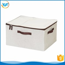 Custom Nursery Removable Non Woven Canvas Storage Box With Zipper