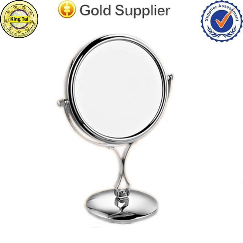 360 degree Rotation Two-sided (1:3) magnifying bronze cosmetic mirror