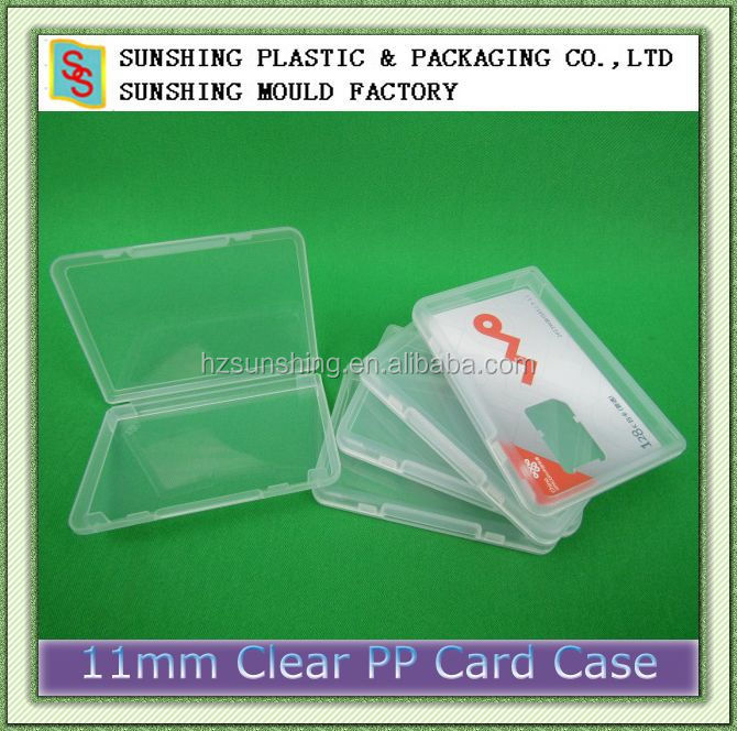 Best-selling pp transparent plastic business neme card holder ID card box