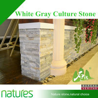 Stack white rock natural stone wall cladding