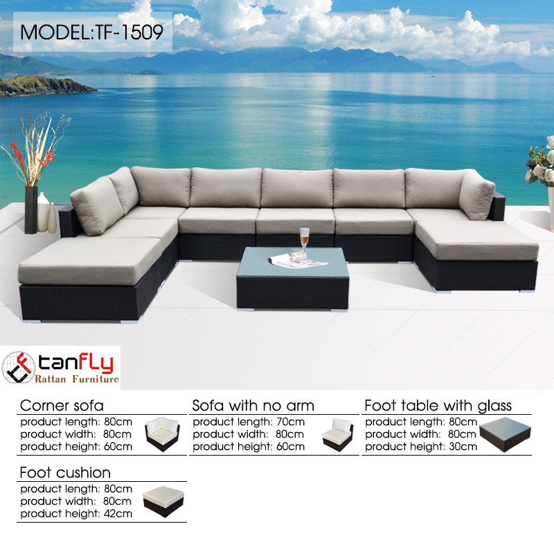 2016 Best Seller Patio Sofa Set Hookah Lounge Furniture