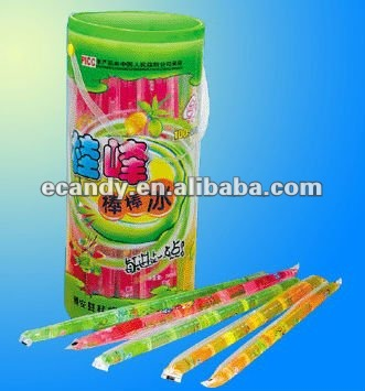 Gelatina stick in different flavors