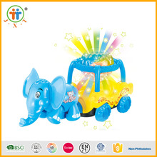 Christmas sales wholesale funny animal toys plastic with spin lighting ball