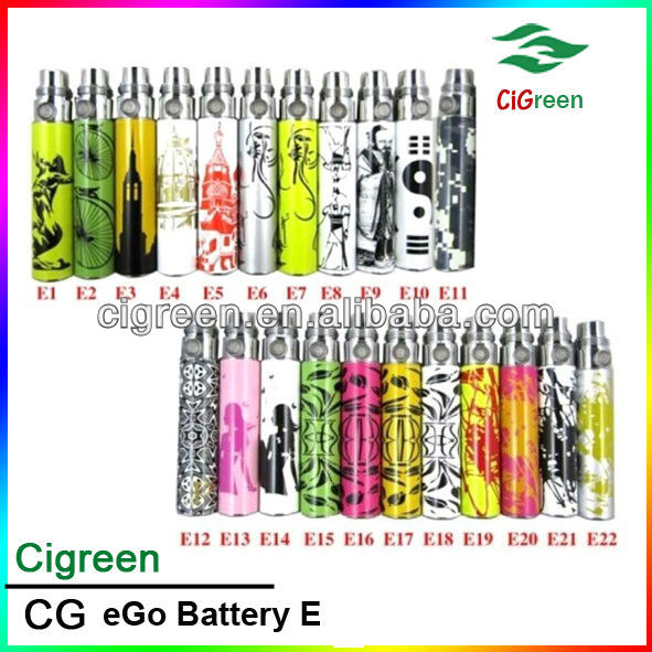 Hottest selling high quality colorful ego crystal batteries. 650/900/1100mah