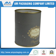luxury wine or tea packaging round cardboard canister
