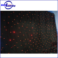Good Quality Guarantee 4X6m Red Color Led Star Curtain Wall Light For Wedding Party Decoration