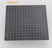 Beelee 16'' Luxurious Bathroom Black LED Water Saving Stainless Steel Shower Head