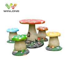 High Quality Outdoor Kids Mushroom Shape Table And Chairs