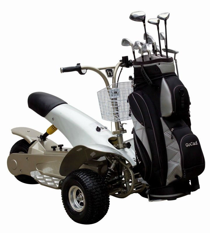 Cheap Electric Golf Cart One Seat 3 Wheel Electric Golf Trike with Trailer SX-E0906-3A