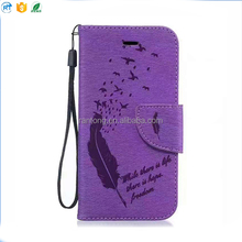 The Latest Hot Selling blank style flip stand pu leather cell phone case for iphone 8