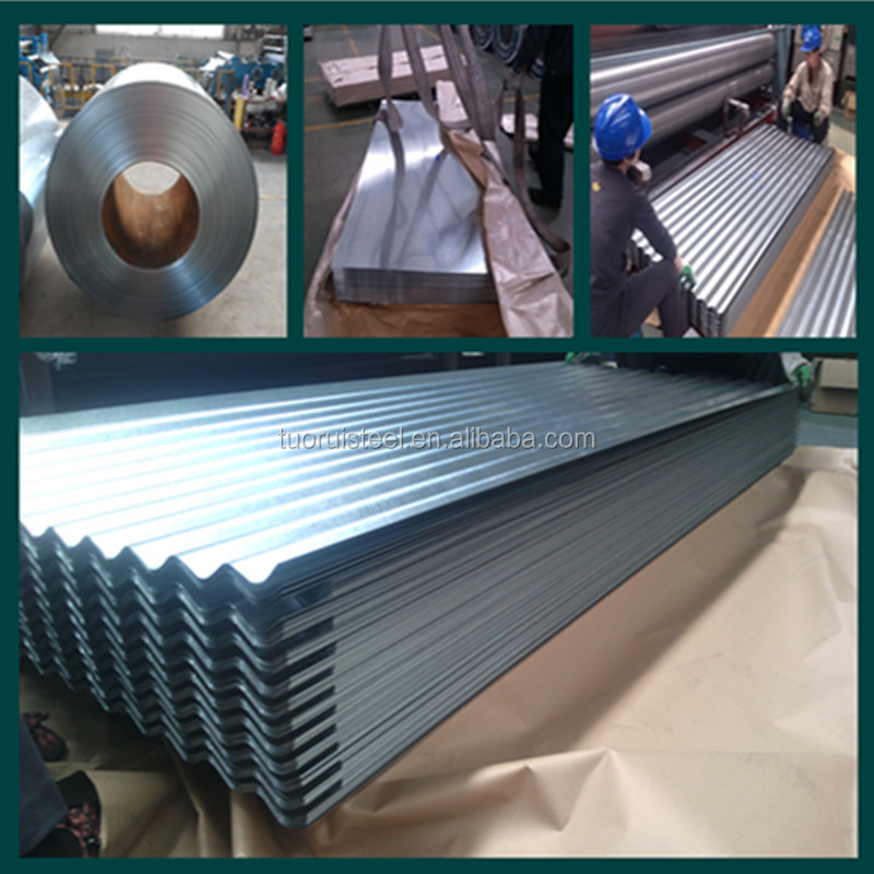 hot dip galvanized corrugated steel roofing sheet metal roofing tile