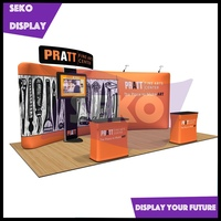 20' trade show equipment quick install pop up back wall