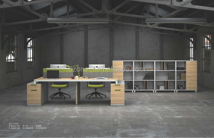 2017 new design office 4 Persons Workstation New Design K-WB2412W/K-WB2812W