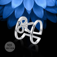 Online wholesale value solid 925 italian sterling silver bow ring