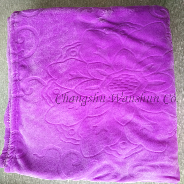 Large cheap custom printed wholesale fleece no sew blanket kits