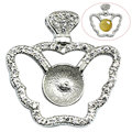 Beadsnice ID30853 925 jewelry accessories base 20x19.5mm sold by PC sterling silver pendant tray