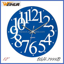 Custom design decoration glass wall clock