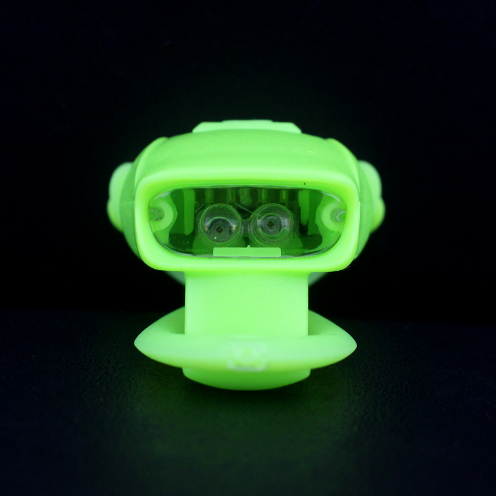 Silicone bicycle safety light mini led light for bicycle signal light