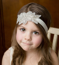 Factory Wholesale Fashion Elastic Crystal Bridal Flower Girl Headband