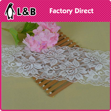 2016 trimming for shirt/underwaer sewing flower decoration lace white elastic trimming lace