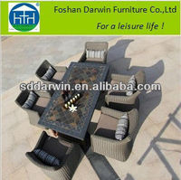 Garden Furniture Mosaic Marble Table Top and Dining Chairs DW-DT082