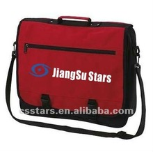 Red student shoulder messenger bag with polyester