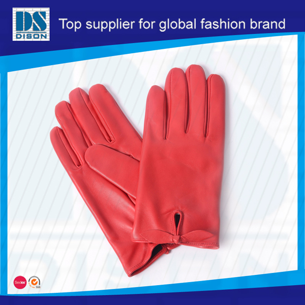 2015 Dison new Ms cow leather gloves with wholesale price