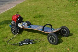 2015 New gas powered mountain board with bamboo deck and brake