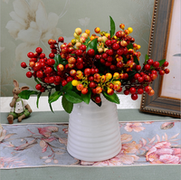 Artificial berry branch for table decoration home and interior decoration artificial berry