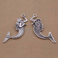 5000 styles Antique silver mermaid charm wholesale size 21*75mm