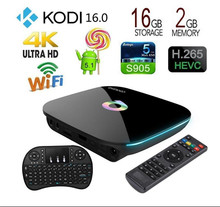 Q-Box Blue TV Box S905X 2G+16G Quad Core Android 5.1 OS Mini PC