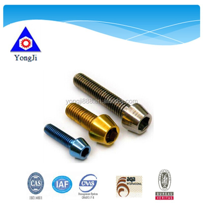 hot sale various types m6 titanium bolt