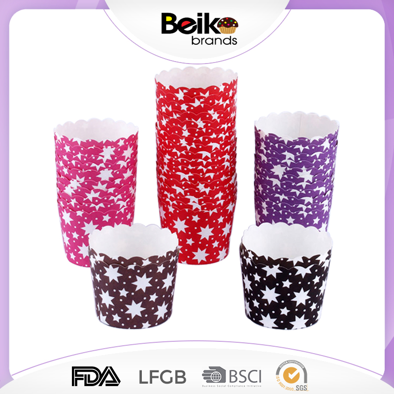 Wholesale baking cup for party decoration baking paper cups for cakes yiwu souffle paper baking cups