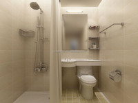 Morden Fashion All In One Complete Prefabricated Bathroom Unit
