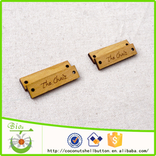 40x10mm custom natural wooden name tag design