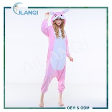 ALQ-A016 Plus size long sleeve winter costume rabbit pajamas onesie