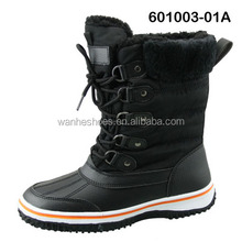 hot sell fashion warm women's snow boots waterproof fur boots anti-skate rubber outsole factory dirrect boots