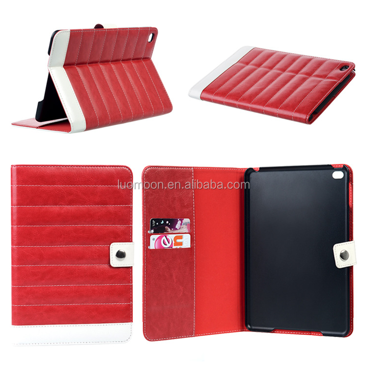 wallet standing stitching leather tablet pc case cover for ipad mini air pro 2 3 4 5